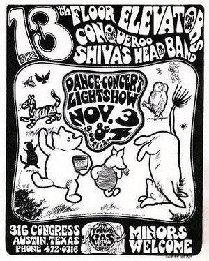 13th Floor Elevators - 1966 - The Vulcan Gas Lightshow Company - Concert Poster Magnet