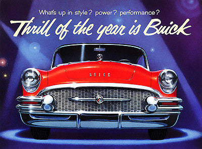 "1955 Buick ""Thrill of the Year is Buick"" - Promotional Advertising Poster"
