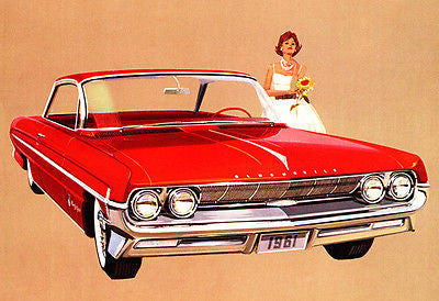 1961 Oldsmobile Olds 98 Holiday Coupe - Promotional Advertising Poster