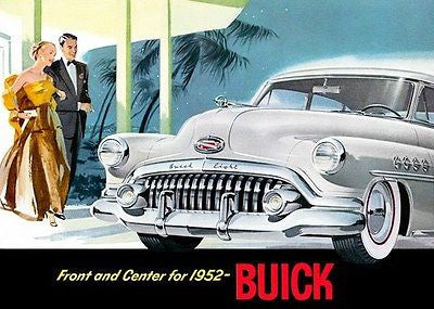 "1952 Buick ""Front and Center for 1952"" - Promotional Advertising Poster"