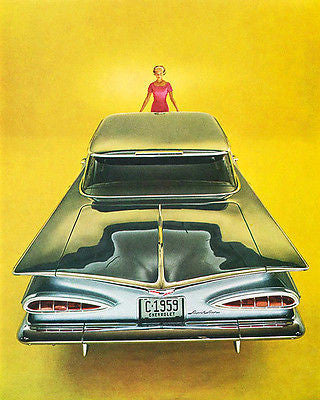 1959 Chevrolet Impala - Promotional Advertising Poster