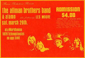 The Allman Brothers Band - 1971 - Concert Poster