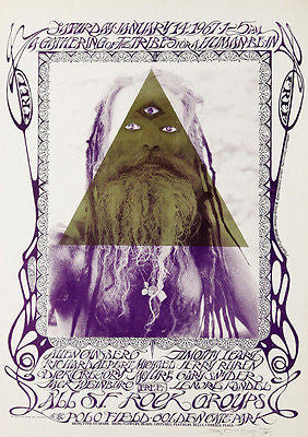 Allen Ginsberg - Timothy Leary - 1967- Golden Gate Park Poster