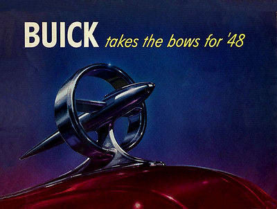1948 Buick Takes the Bows for '48 - Promotional Advertising Poster