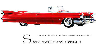 1959 Cadillac Series 62 Convertible - Promotional Advertising Poster