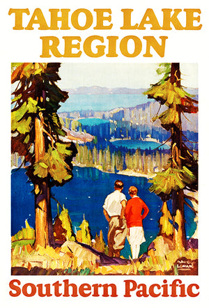 Tahoe Lake Region - Southern Pacific - 1927 - Travel Poster Magnet