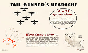 Tail Gunner's Headache - 1944 - Training Aids Aviation Magnet