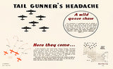 Tail Gunner's Headache - 1944 - Training Aids Aviation Poster