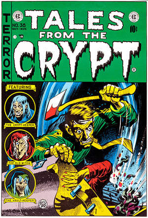 Tales From The Crypt - October November 1950 - Comic Book Cover Poster