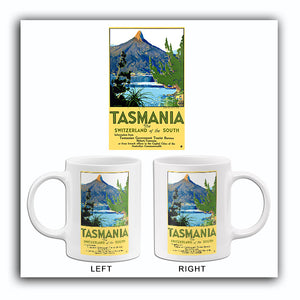 Tasmania - The Switzerland Of The South - Australia - 1930's - Travel Poster Mug