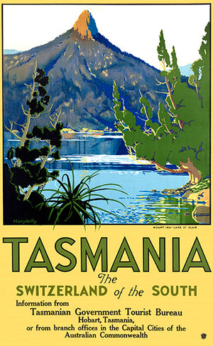 Tasmania - The Switzerland Of The South - Australia - 1930's - Travel Poster