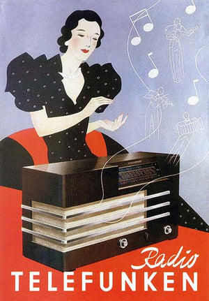 Telefunken Radio - 1935 - Promotional Advertising Magnet