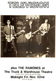 Television - The Ramones - New York City - 1974 - Concert Poster