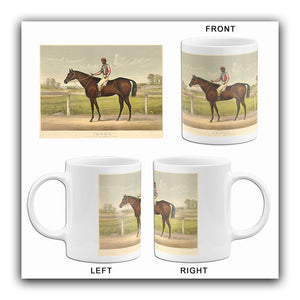 Tenny - Dam Belle Maywood - 1892 - Horse Racing Mug