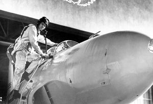 Test Pilot Lawrence Clousing With Lockheed P-80 Shooting Star - Photo Magnet