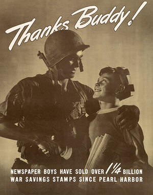 Thanks Buddy! - 1944 - World War II - Propaganda Magnet