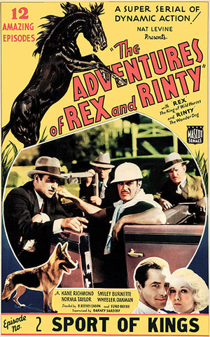 The Adventures Of Rex And Rinty - 1935 - Movie Poster