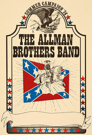 The Allman Brothers Band - 1974 - Summer Campaign - Concert Magnet