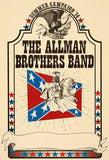 The Allman Brothers Band - 1974 - Summer Campaign - Concert Poster