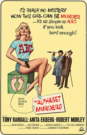 The Alphabet Murders - 1965 - Movie Poster Magnet