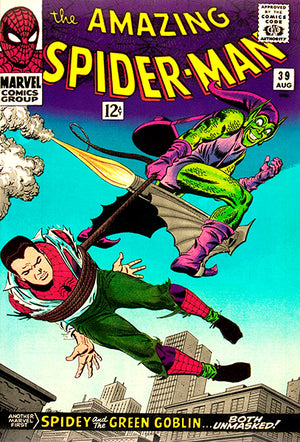 The Amazing Spider-Man - #39 - August 1966 - Comic Book Cover Poster