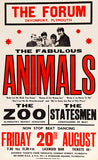The Animals - 1965 - Concert Poster