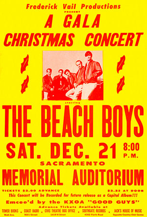 The Beach Boys - 1963 - Sacramento CA - Concert Poster