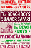 The Beach Boys - Summer Safari - Kansas City MO - 1964 - Concert Poster