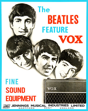 The Beatles Feature Vox - 1964 - Promotional Advertising Poster