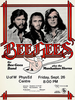 The Bee Gees - 1975 - Waterloo ON - Concert Magnet