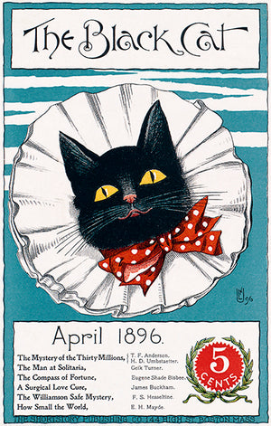 The Black Cat - April 1896 - Magazine Cover Poster