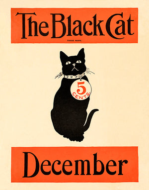 The Black Cat - December 1890's - Magazine Cover Poster
