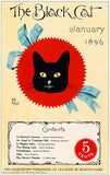 The Black Cat - January 1896 - Magazine Cover Poster