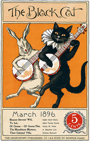 The Black Cat - March 1896 - Magazine Cover Poster