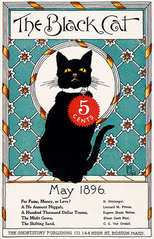 The Black Cat - May 1896 - Magazine Cover Poster
