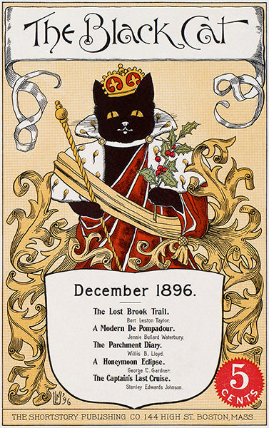 The Black Cat - December 1896 - Magazine Cover Poster