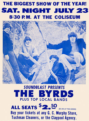The Byrds - Indianapolis IN - 1966 - Concert Poster