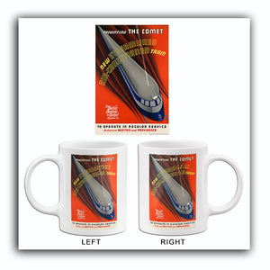 The Comet - New Streamlined Air -Conditioned Train - 1935 - Travel Poster Mug