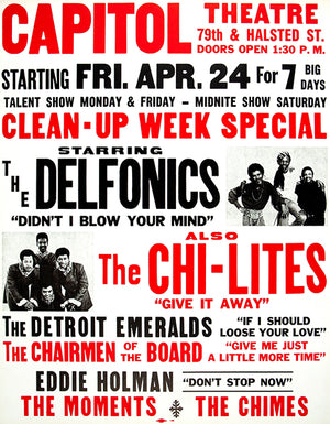 The Delfonics - The Chi-lites - 1970 - Concert Poster