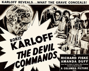 The Devil Commands - 1955 - Movie Poster