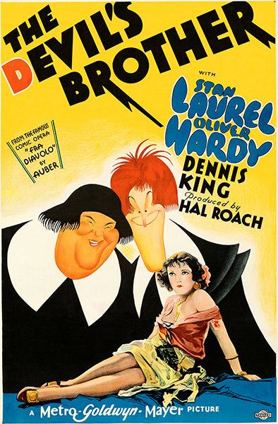 The Devil's Brother - Laurel & Hardy - 1933 - Movie Poster