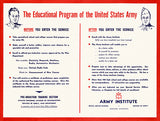 The Educational Program Of The United States Army - 1940's - World War II - Propaganda Poster