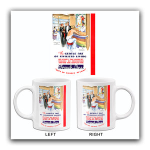 The Gentle Art Of Civilized Living - France - 1934 - Travel Poster Mug