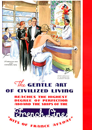 The Gentle Art Of Civilized Living - France - 1934 - Travel Poster Magnet