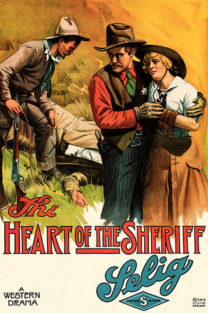 The Heart Of The Sheriff - 1915 - Movie Poster Magnet