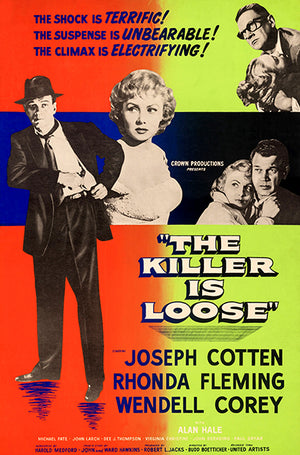 The Killer Is Loose - 1956 - Movie Poster Magnet