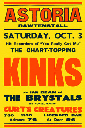 The Kinks - 1964 - Concert Poster
