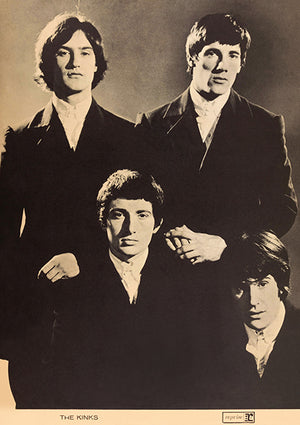 The Kinks - 1965 - Band Portrait Poster