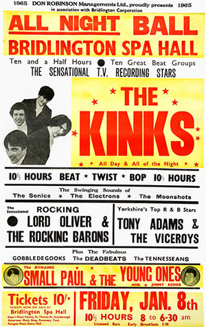The Kinks - 1965 - Concert Poster