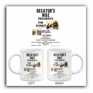 The Kinks - Decatur IL - 1965 - Concert Poster Mug